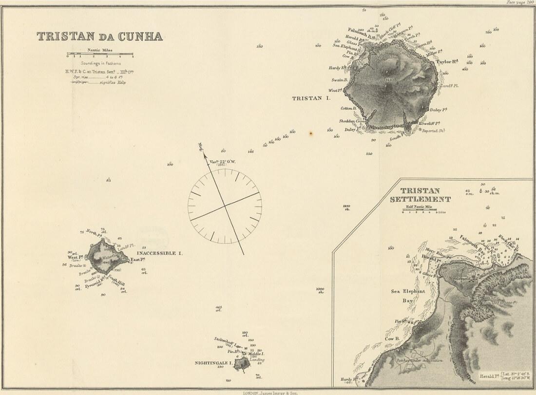 Mappa di Tristan da Cunha