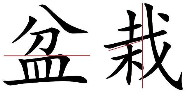 Bonsai, il kanji giapponese