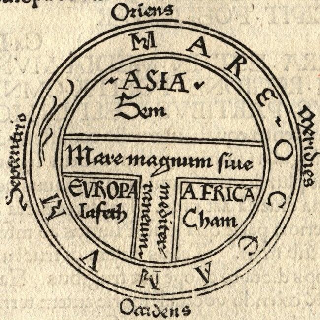 Esempio di Mappa T-O