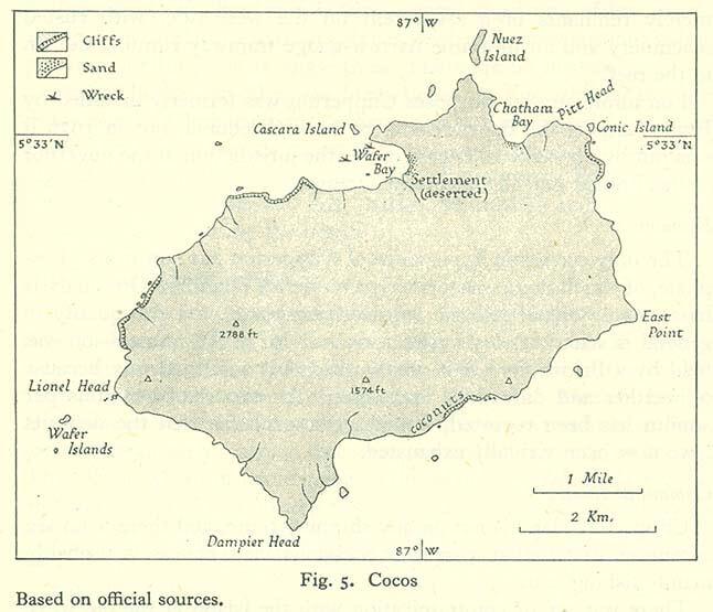 Mappa dell'Isola del Cocco