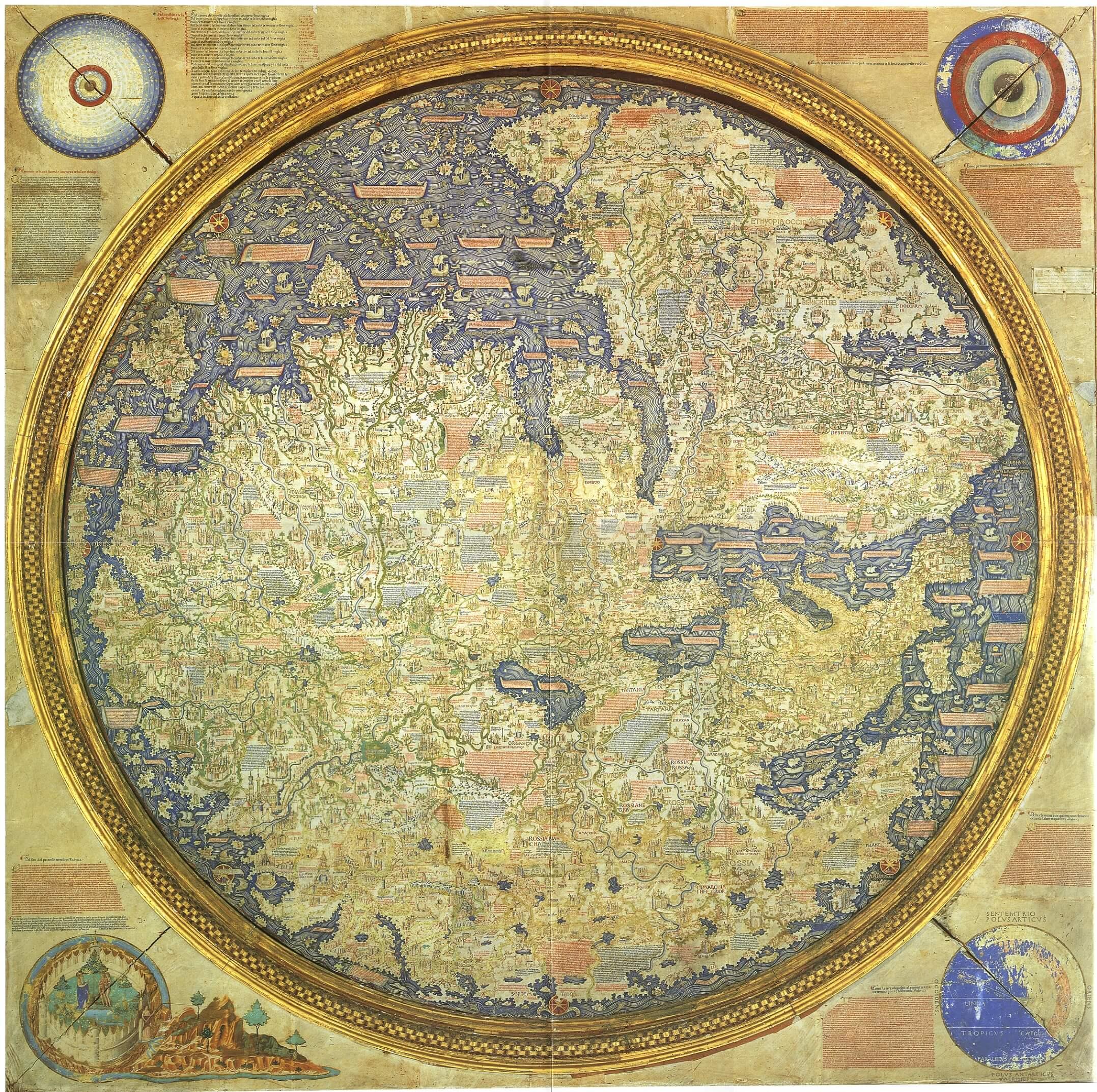 Il mappamondo di Fra Mauro, un planisfero del 1460