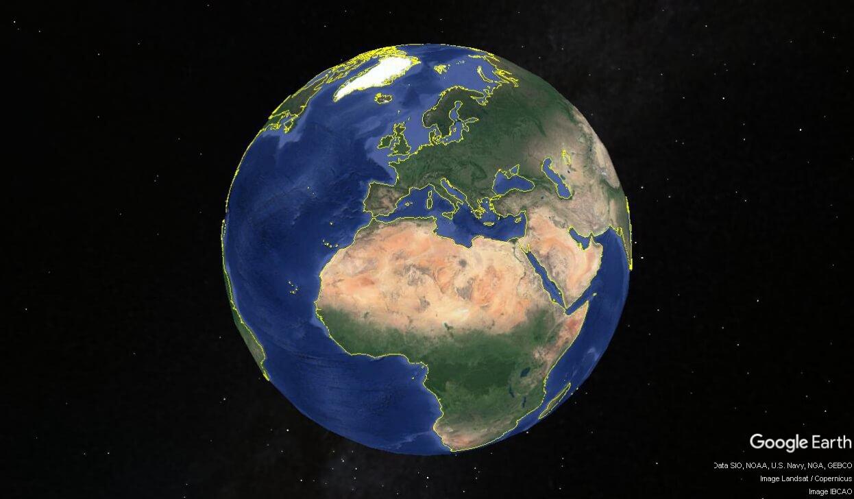Mappa di Google Earth