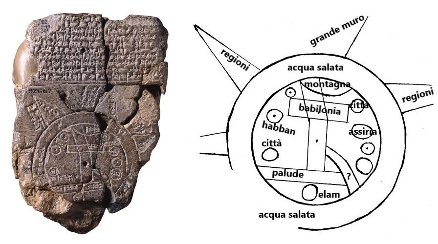 Mappa mundi babilonese e spiegazione