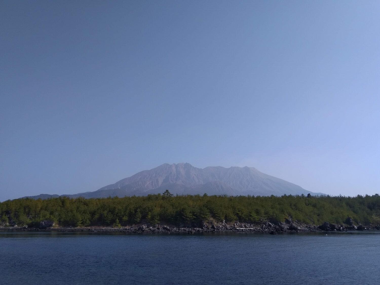 Foto di Sakurajima scattata in inverno