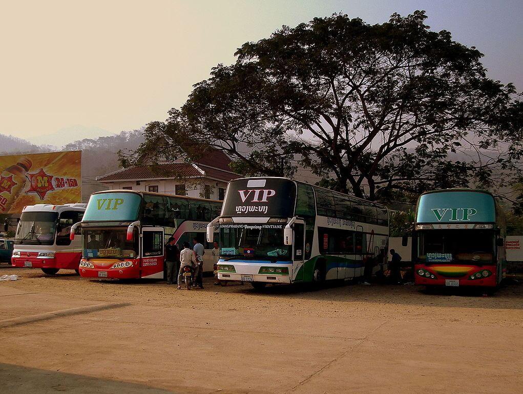 La stazione dei bus di Luang Prabang