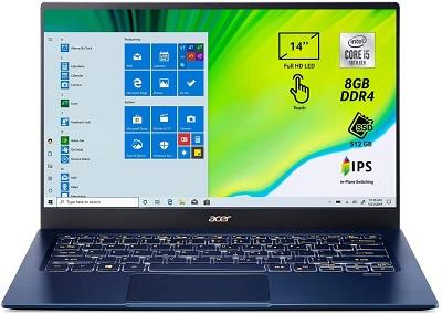 Acer Swift 5, un laptop 14 pollici leggerissimo per viaggiare