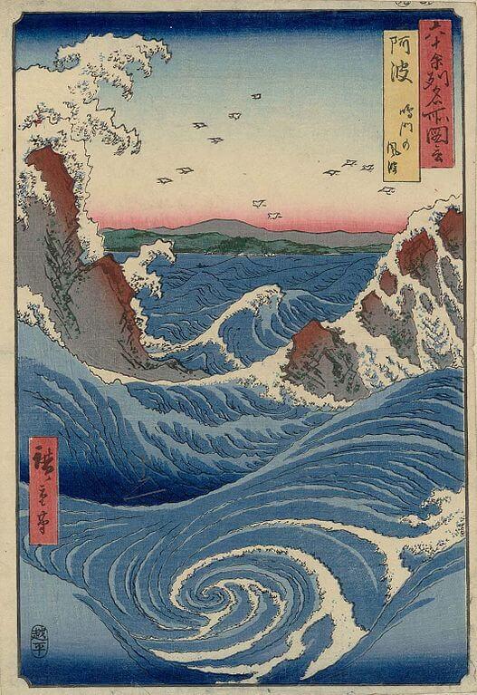 Awa. I gorghi di Naruto - Hiroshige