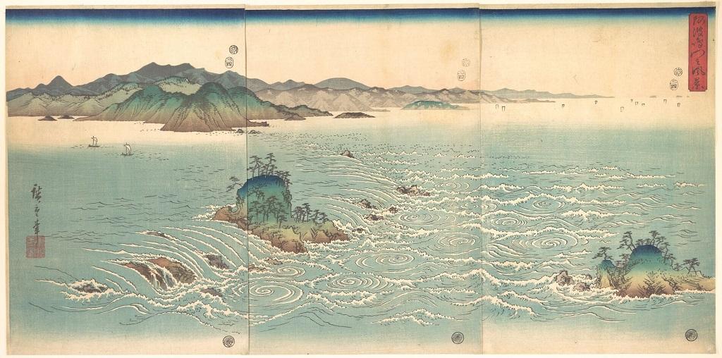 Veduta dei gorghi di Naruto ad Awa (1857)