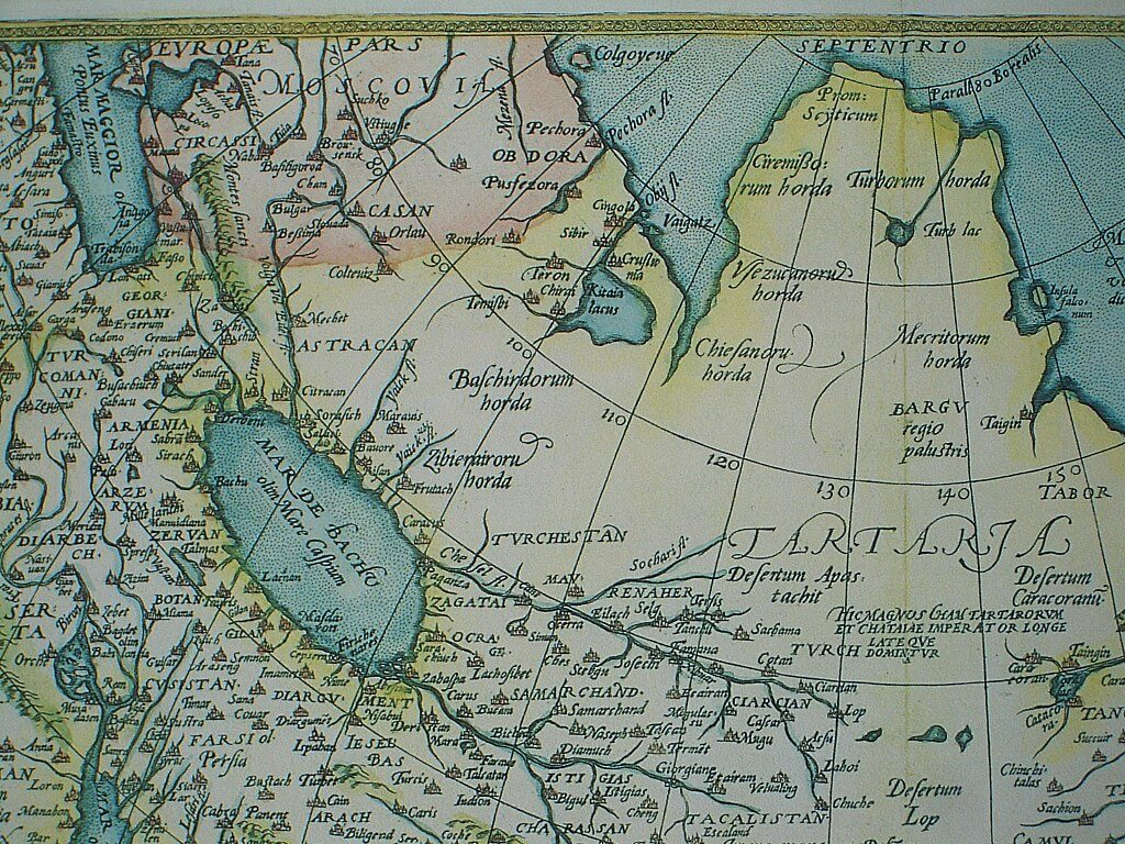Mappa Europa e Asia del 1570