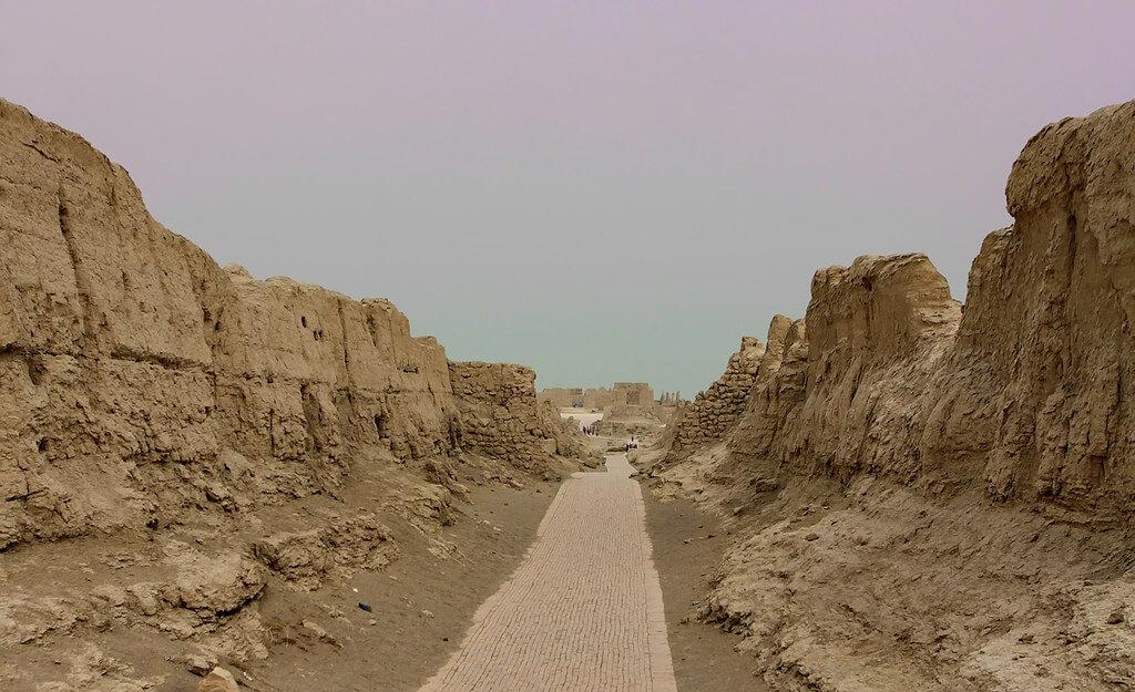 Le rovine di Jiaohe, a Turpan