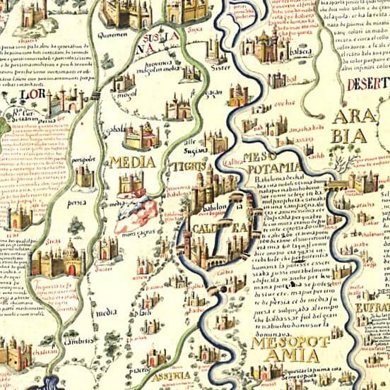 Babilonia, particolare della Mappa di Fra Mauro