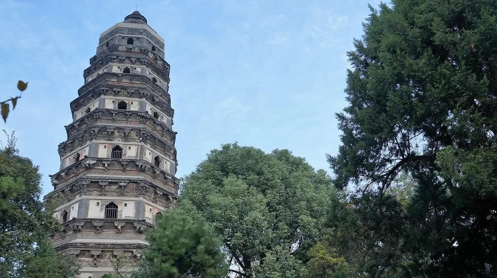 La pagoda pendente sulla Collina della Tigre, Suzhou