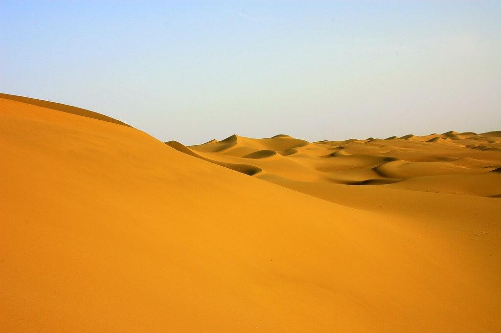 Dune del deserto del Taklamakan