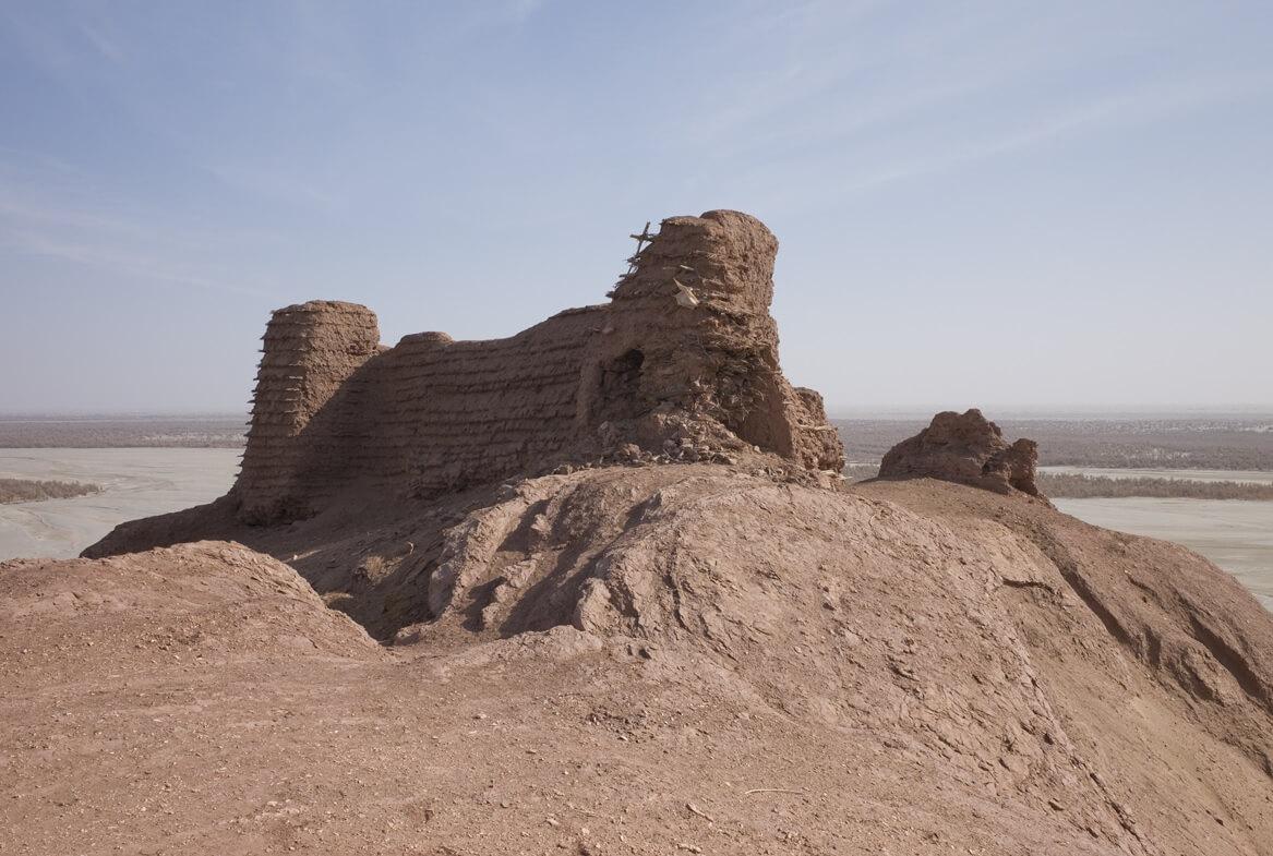 Il forte di Mazar Tagh, a nord di Hotan