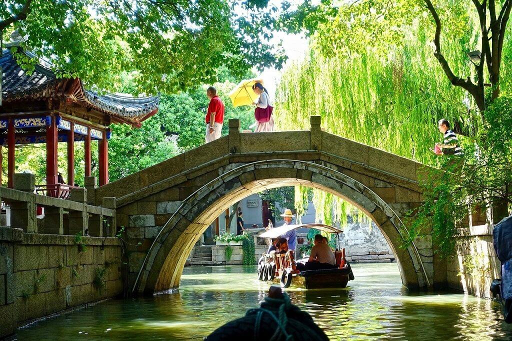 Ponte sui canali di Suzhou, Cina