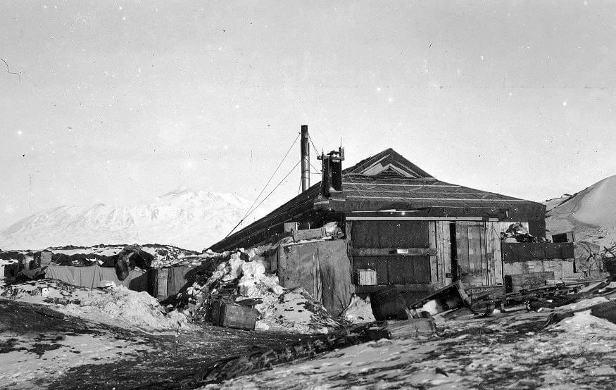 Il campo base di Schakleton a Capo Royds - Spedizione Antartide del 1908