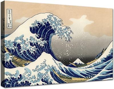 La grande onda di Kanagawa: acquista stampa su tela canvas