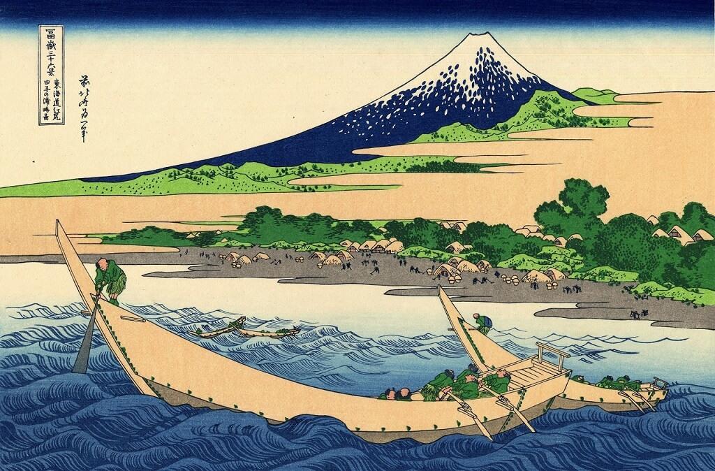 Costa della baia di Tago, da le 36 vedute del monte Fuji