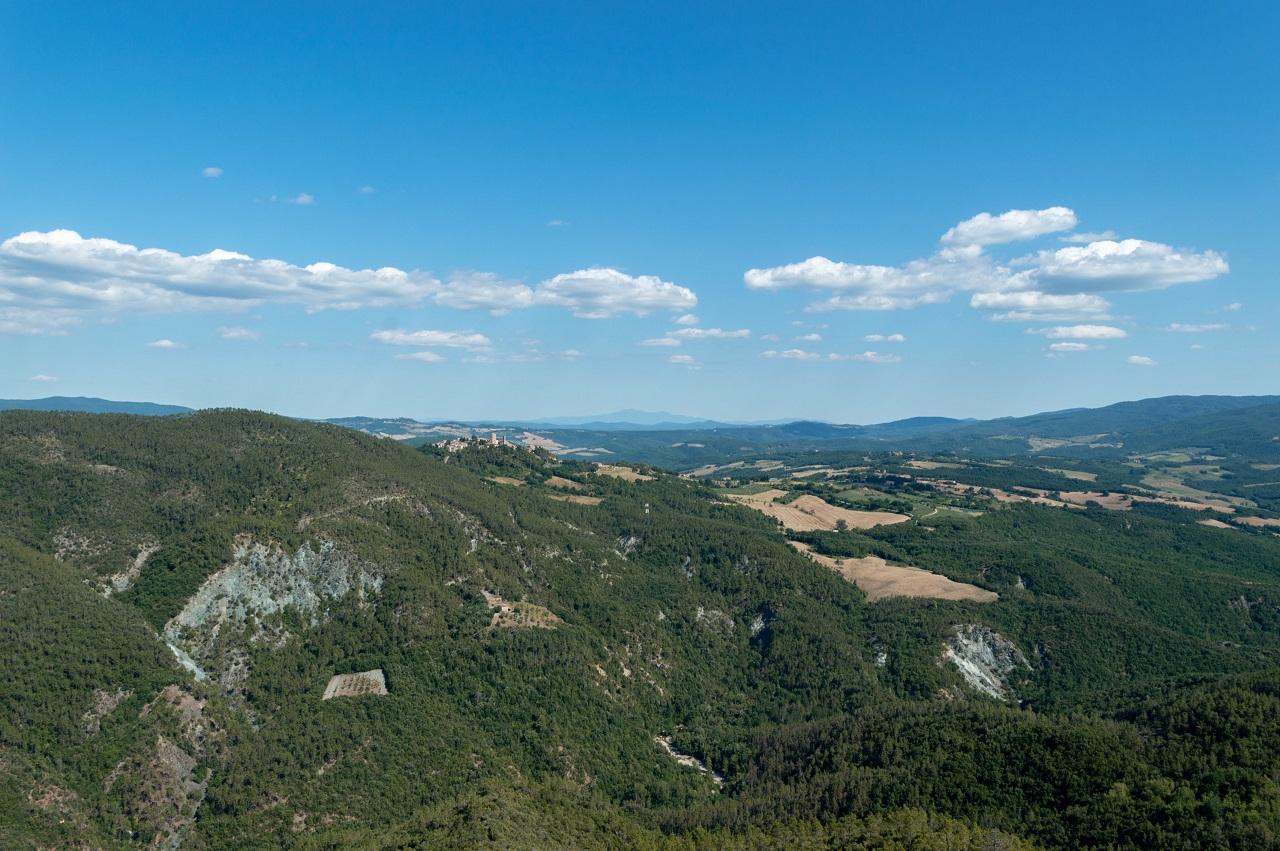 Il paesaggio dalle mura di Rocca Sillana