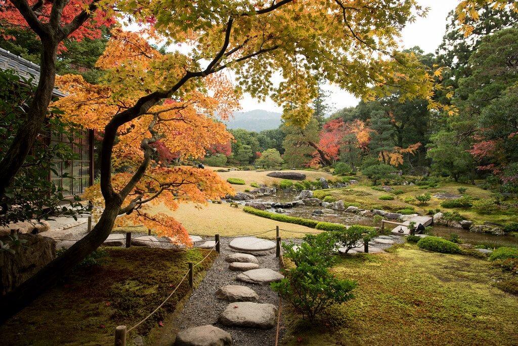 L'autunno nel giardino Murin-an di Kyoto (Kansai)