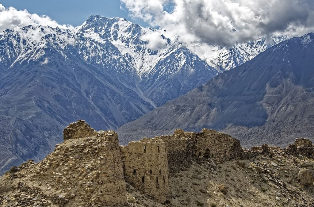Fortezza di Yamchun  al confine tra Tajikistan and Afghanistan