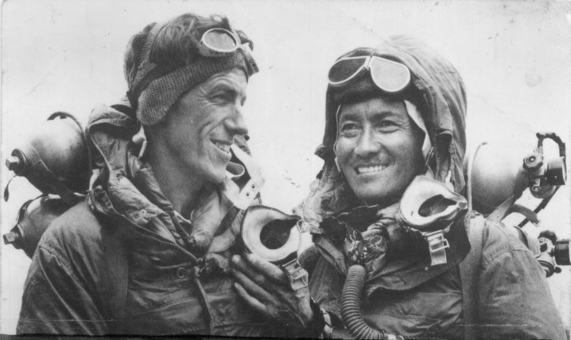 Edmund Hillary e Tenzing Norgay, i primi scalatori dell'Everest