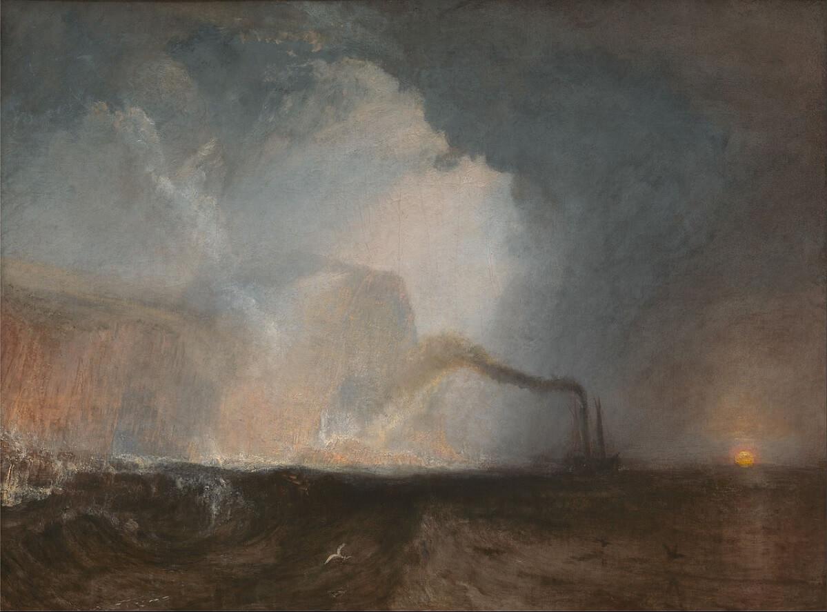 Staffa, Fingal's Cave, dipinto di William Turner. 1831-1832, olio su tela