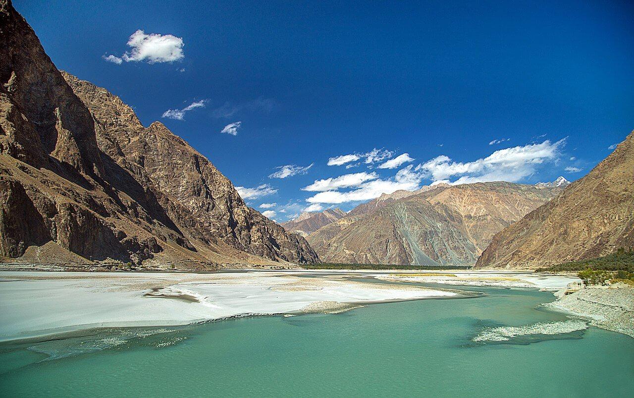 Il fiume Indo nel Gilgit-Baltistan (Pakistan)