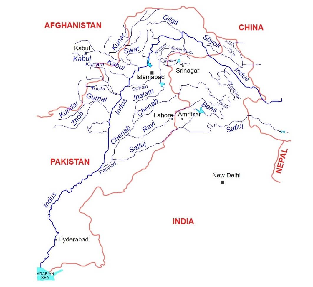L'ampio bacino idrografico del fiume Indo