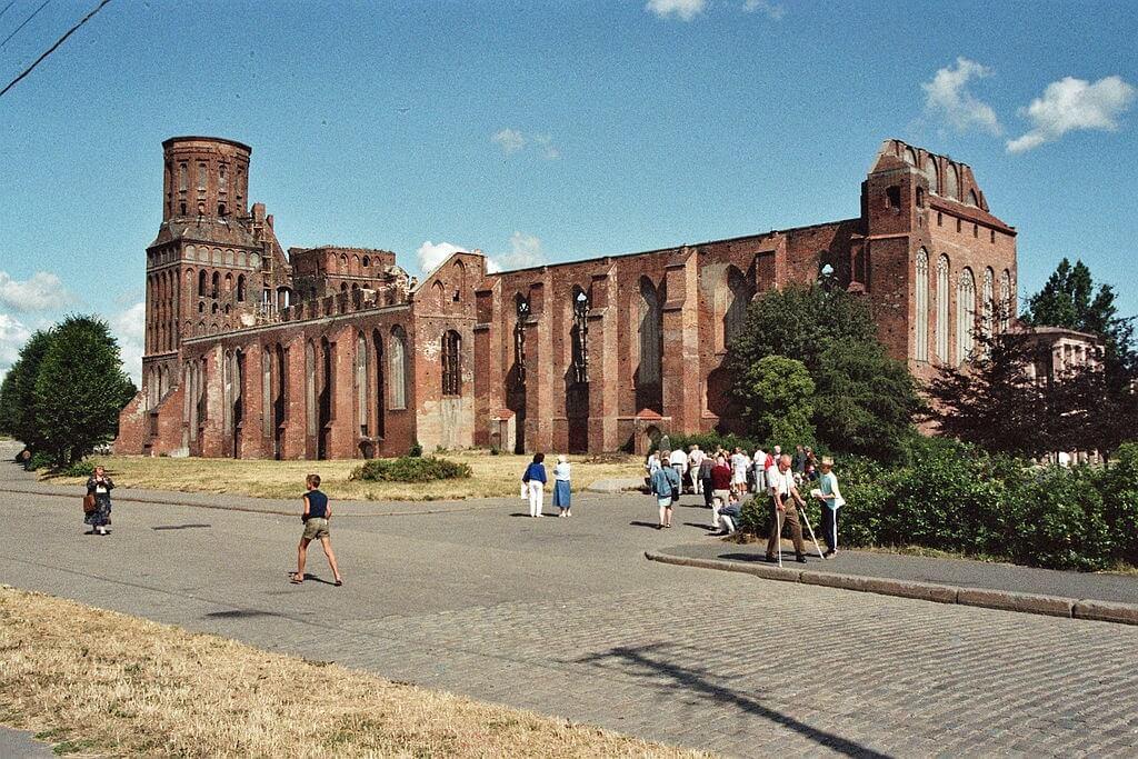 La cattedrale di Konigsberg prima del restauro (1982)
