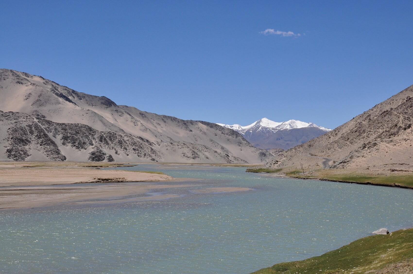 Fiume Indo in Ladakh, India