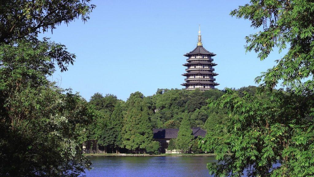 L'attuale pagoda Leifeng di Hangzhou