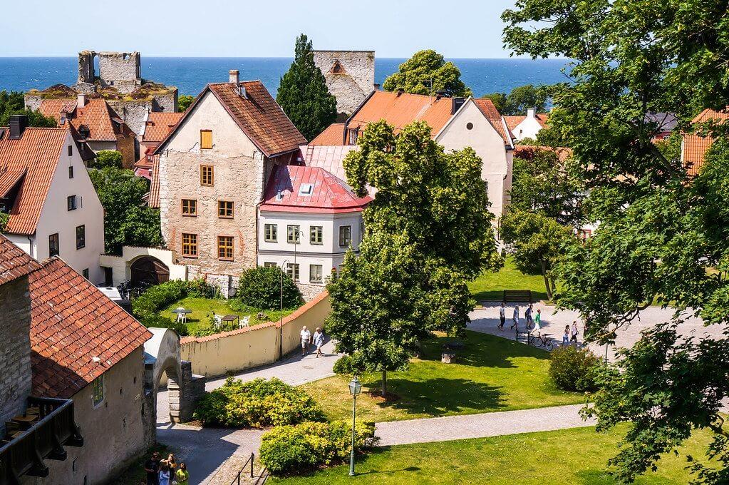 Visby, capitale dell'isola di Gotland, in Svezia