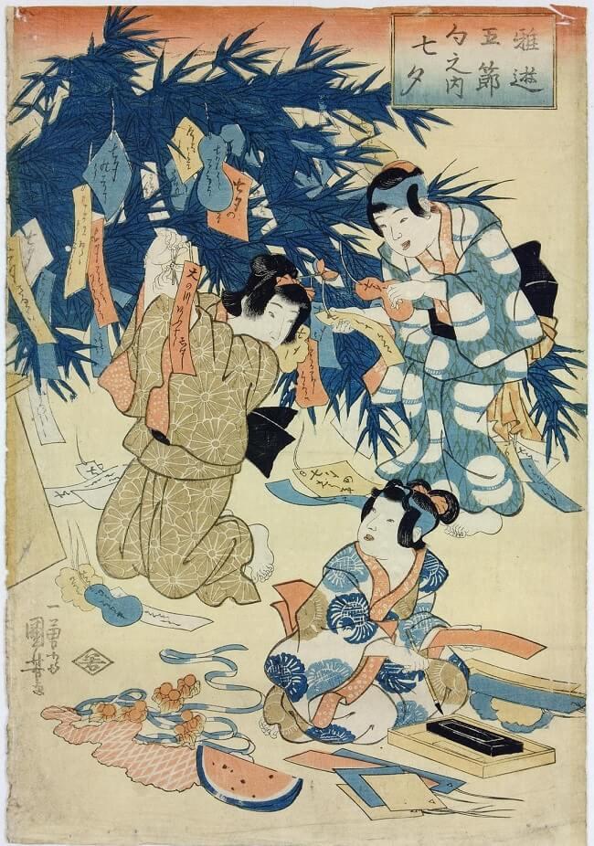 Tanabata: la tradizione di appendere bigliettini augurali a rami di bambù