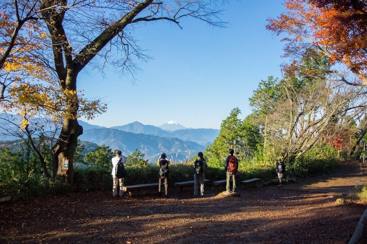 Il Fuji-san visto dal monte Takao