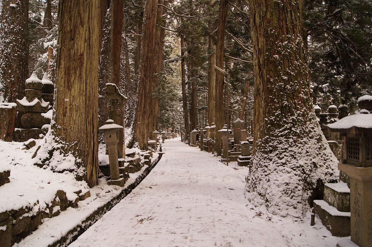 L'Okunoin sul Koyasan, uno dei monti sacri del Giappone