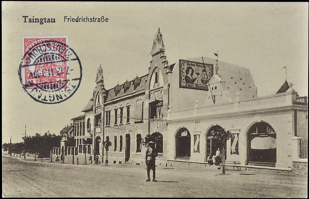 Qingdao in una cartolina postale del periodo 1900 - 1910 (periodo coloniale tedesco)