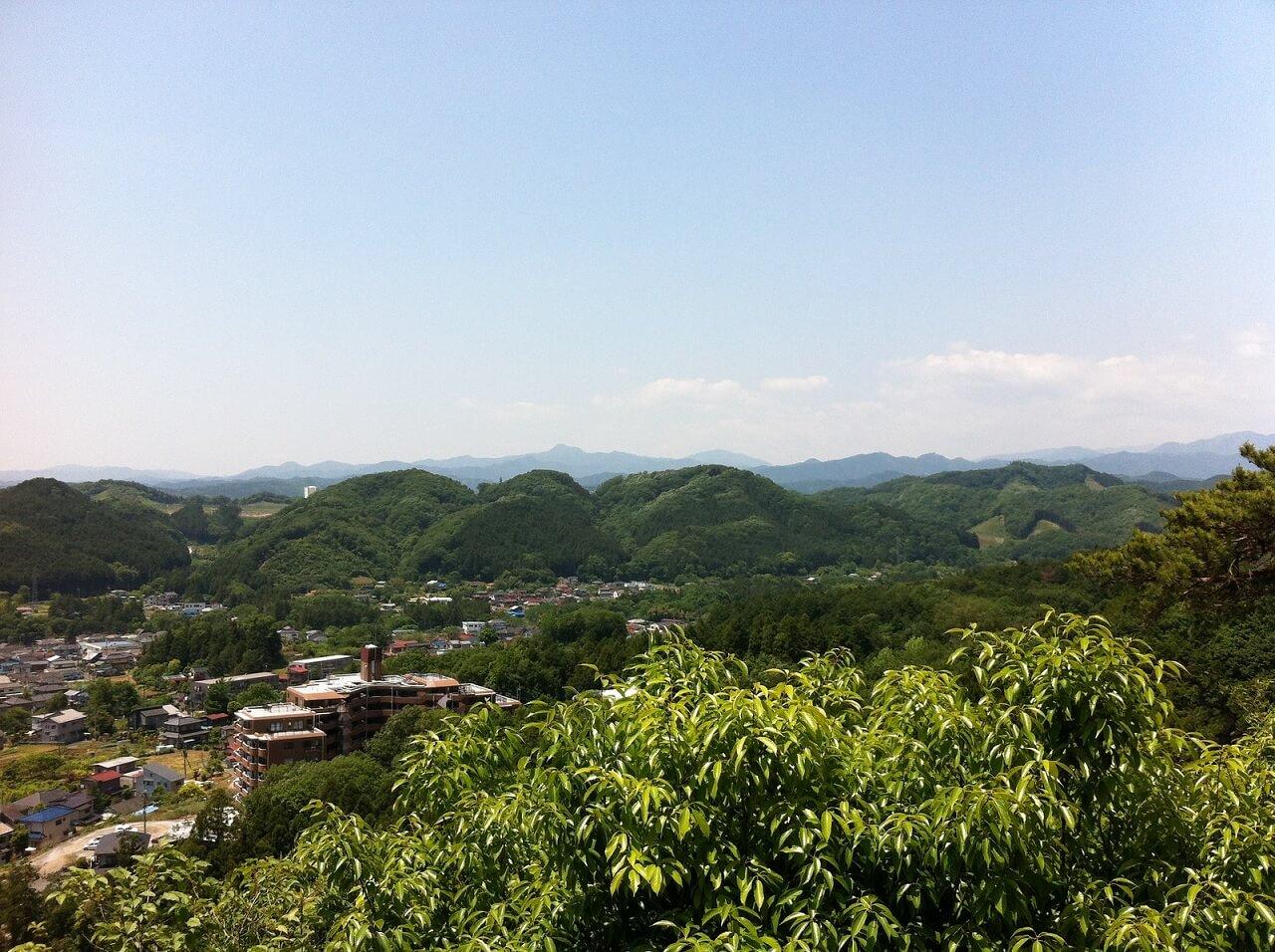 Panorama visto dal monte Tenran (Tenranzan), nella prefettura di Saitama