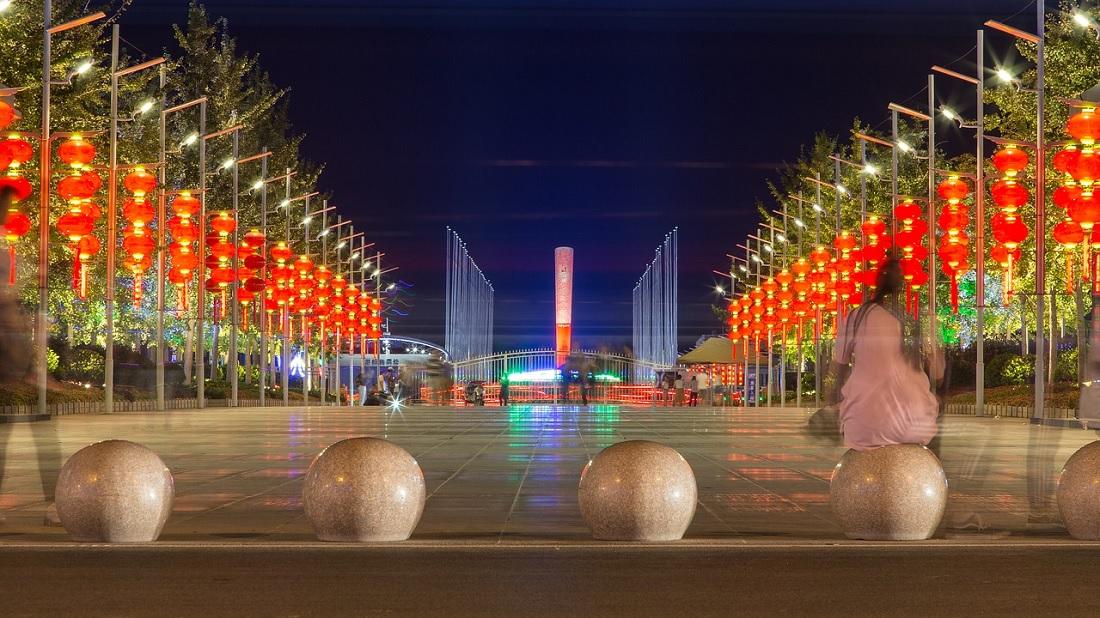 La torcia olimpica di Qingdao (Giochi Olimpici 2008)