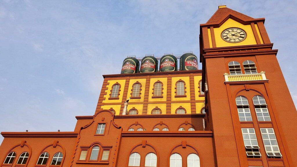 Il vecchio edificio del birrificio Tsingtao, oggi adibito a museo