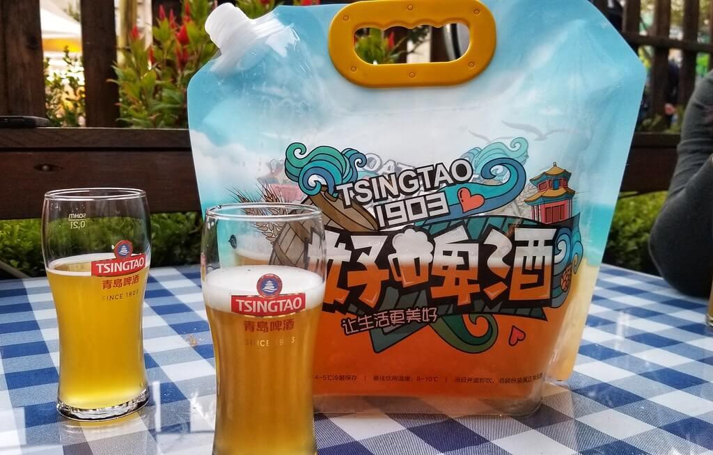 Contenitore in plastica di birra Tsingtao