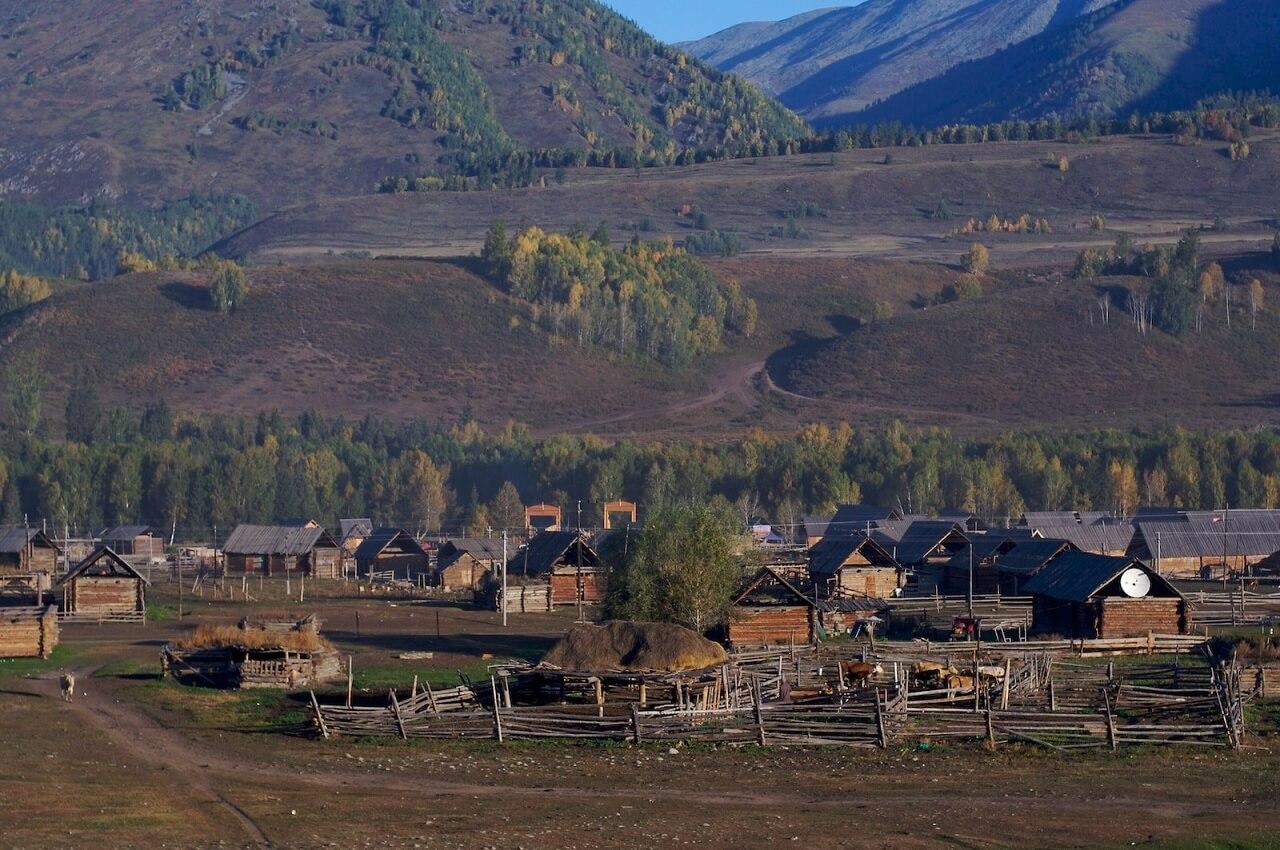 Il villaggio Hemu, nello Xinjiang (Cina)