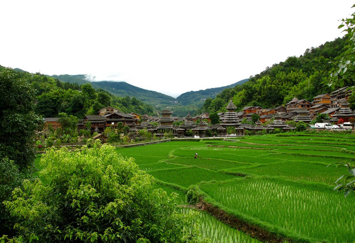 Zhaoxing, villaggio cinese della minoranza Dong