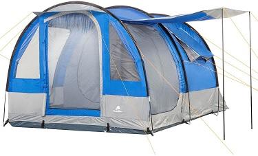 Campfeuer Smart 4, tenda campeggio 4 posti ideale per famiglie