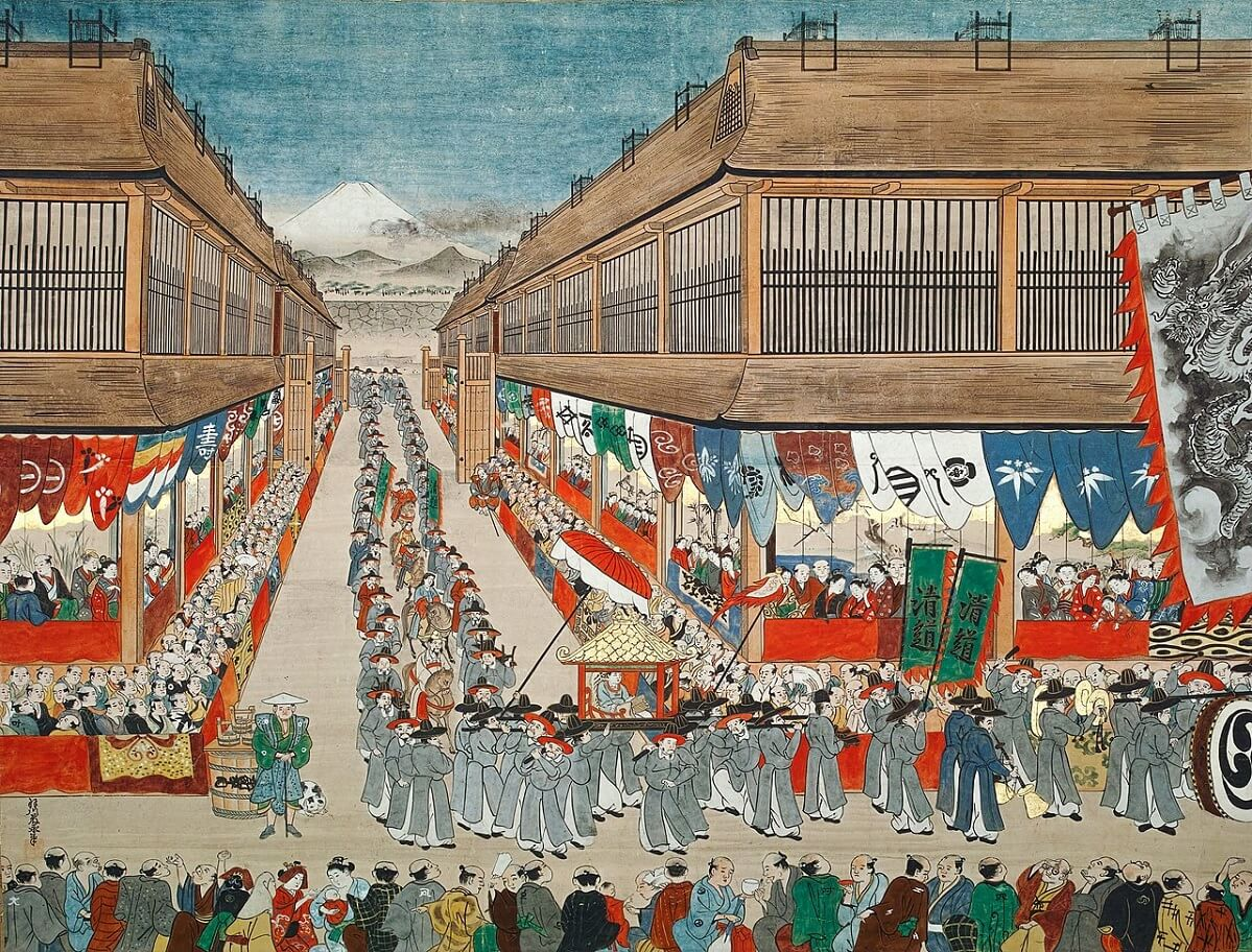 Akinosuké sognò un corteo e di essere condotto a corte in un palanchino