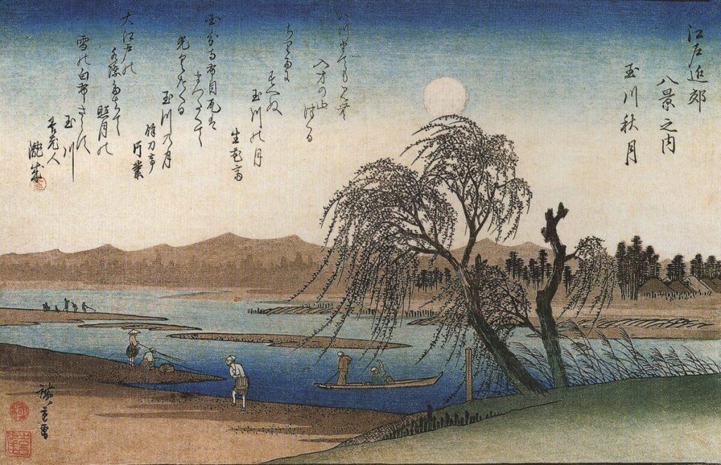 Ukiyo-e di Hiroshige che rappresenta un salice, protagonista di una bella leggenda giapponese