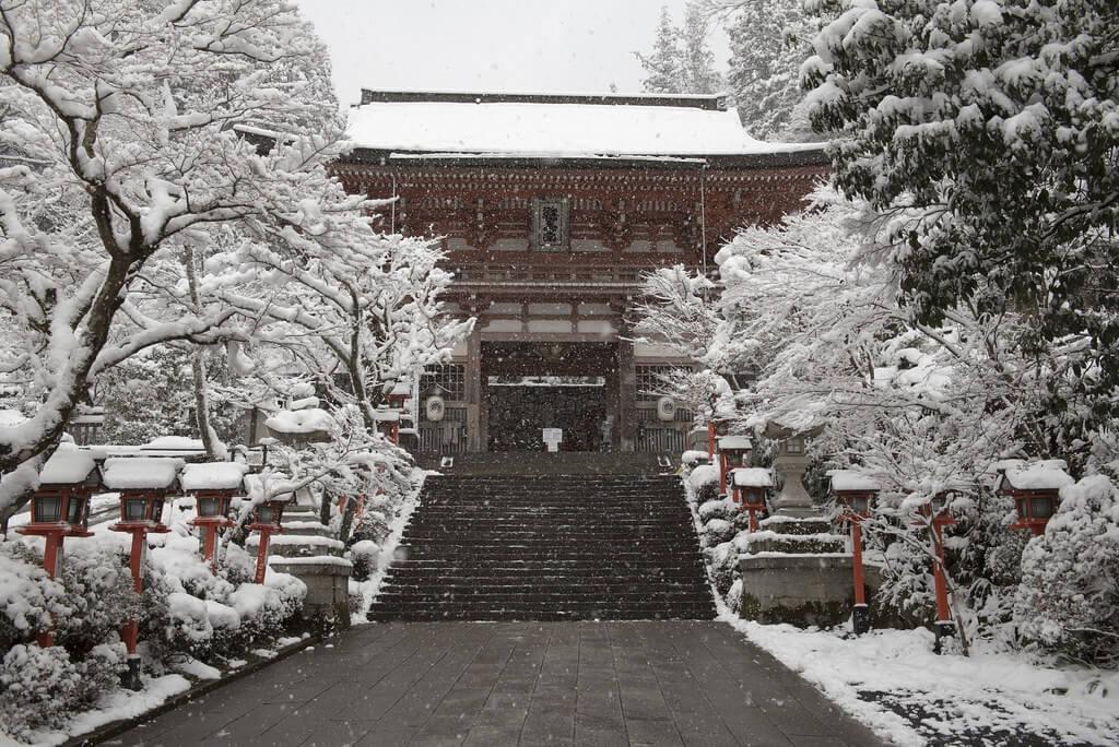 Il tempio Kurama-dera, sul monte Kurama, dove fu addestrato il giovane samurai Yoshitsune