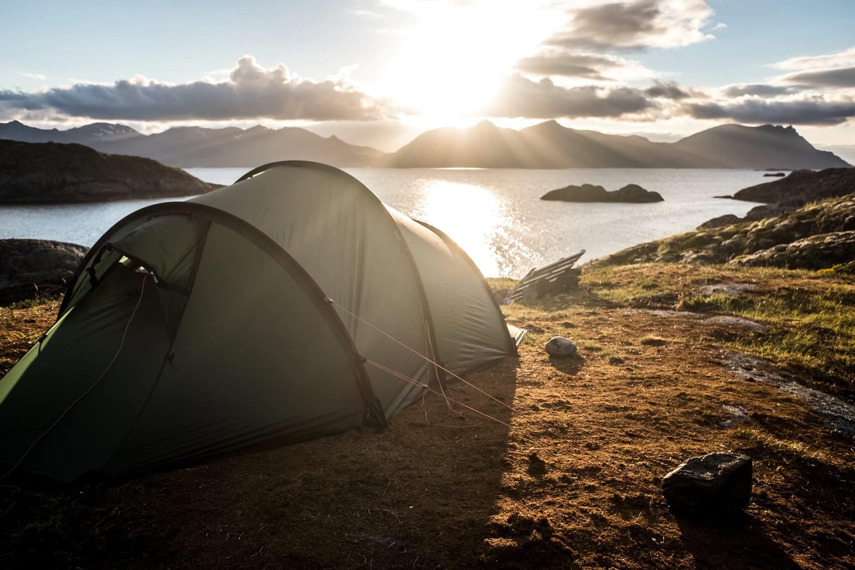 Tenda igloo 4 posti da campeggio