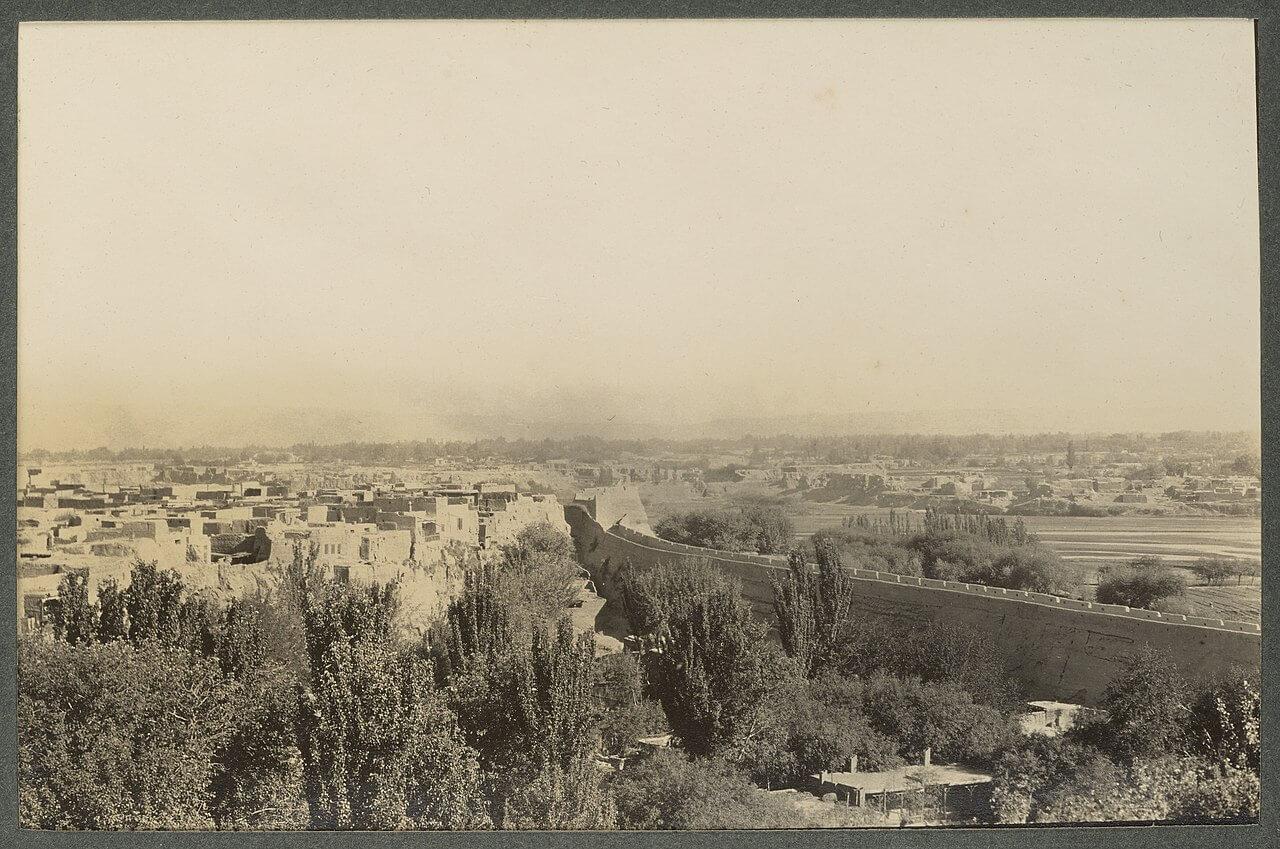 Kashgar, una delle città chiave e storiche lungo l'antica via della seta