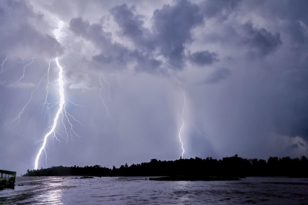 Venezuela, lago Maracaibo: i fulmini del Catatumbo.